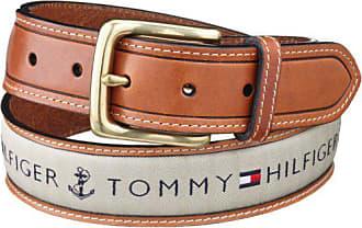 Tommy Hilfiger Mens Ribbon Inlay Belt,Khaki,42