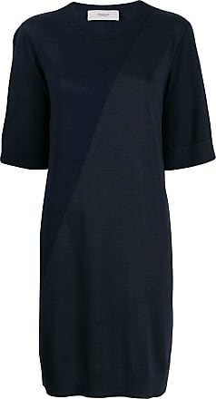Pringle Of Scotland Vestido color block de tricô - Azul