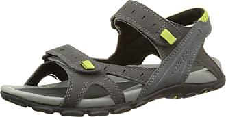 9a49d368cb3d Hi-Tec Mens Laguna Strap Open-Toe Sandals Grey Size  7