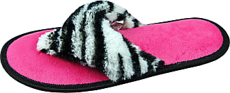 Forever Dreaming Ladies Womens Slippers Super Comfy Animal Print Flip Flop Perfect Gift for Her Zebra 3 UK