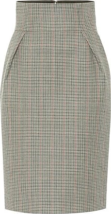 Alexandre Vauthier Checked wool pencil skirt