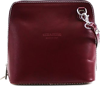 Your Dezire Ladies Genuine Italian Leather Small Cross Body Messenger Bag Women Shoulder Over Bags Handbags,Vera Pelle (Burgundy)