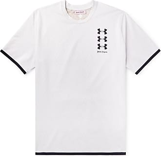Palm Angels + Under Armour Perforated Logo-print Celliant T-shirt - White