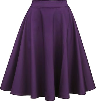 8246a7cbe465a7 Dolly   Dotty Shirley High Waist Full Circle Plain Skirt - Medium-lengte  rok -
