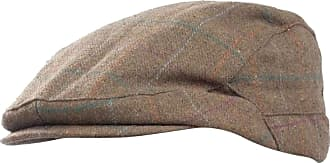 Universal Textiles Mens Checked Wool Blend Winter Flat Cap (M/L) (Brown)