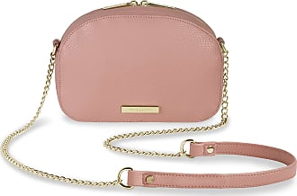 Katie Loxton Half Moon Womens Vegan Leather Shoulder Cross Body Bag Pink