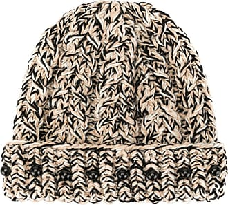 0711 bead-detail knit beanie - NEUTRALS