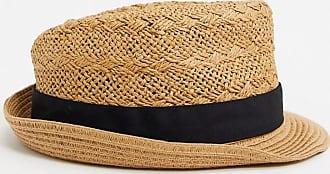 Burton Menswear Cappello trilby in paglia color cuoio