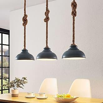 Lindby Chaby lámpara colgante, hormigón, 3 luces