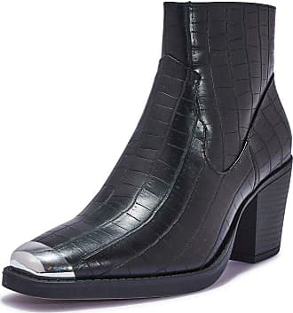 Truffle Womens Wide Fit Vegan Leather Block Heel Ankle Shoe Boot Boots Shoes - Black - UK 7