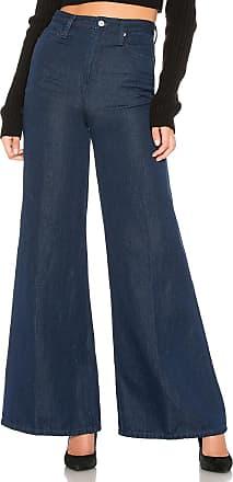 Free People Super High Rise Wide Leg Jean in Dark Denim