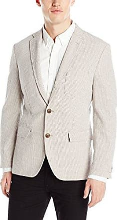 Haggar Mens Glen Plaid Tailored Fit Center Vent Sport Coat
