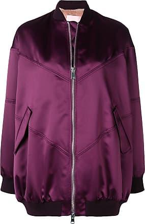 Giambattista Valli zipped-up bomber jacket - Pink