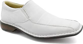 Doctor Shoes Antistaffa Sapato Masculino 3023 em Couro Floater Branco Doctor Shoes-Branco-43