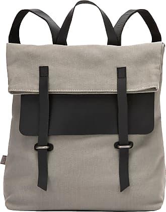 DuDu Grand sac à dos en toile et cuir pour ordinateur portable avec fermeture magnétique et bretelles réglables Gris