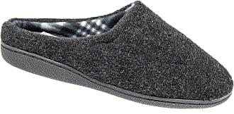 Zedzzz Mens Slip On Mule Slippers Black Memory Foam (8)