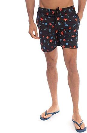Aleatory Shorts Estampado Aleatory Starfish-Preto-P