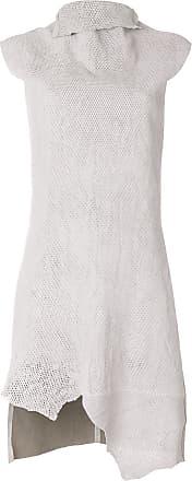 Olsthoorn Vanderwilt Vestido de couro vegetal - Cinza