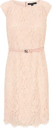 Comma Kanten jurk met ondoorschijnende, dubbele voering Van comma, lichtroze