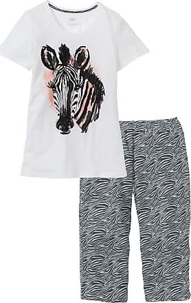 Bonprix Dam Pyjamas med capribyxor i vit kort ärm - bpc collection 78b664b2497f1