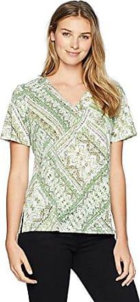 Alfred Dunner Womens Plus-Size Geometric Border Tee Shirt T-Shirt
