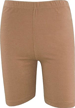Momo & Ayat Fashions Ladies Cotton Elastane Dance Cycling Shorts UK Size 8-22 (M/L (UK 12-14), Mocha)