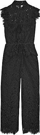 Ganni Ganni Woman Ruffled Corded Lace Jumpsuit Black Size 36