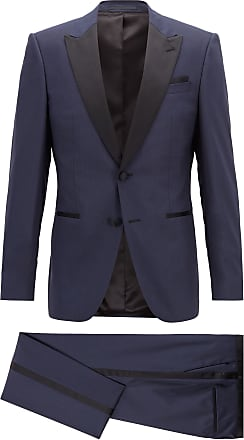 BOSS Slim-fit tuxedo in stretch wool with silk trim