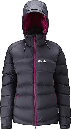 RAB Womens Ascent Jacket - Beluga/Peony, 16