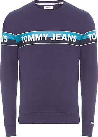 Tommy Jeans BLUSA MASCULINA BAND LOGO CREW - AZUL