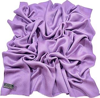 CJ Apparel Light Purple Fringe Solid colour Design Nepalese Shawl Scarf Wrap Stole Throw Pashmina Pashminas CJ Apparel NEW