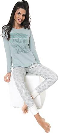 Pzama Pijama Pzama Estampado Off-White/Verde