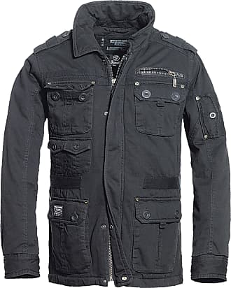 Brandit Platinum Vintage Men Winter Jacket Black L, 100% Cotton