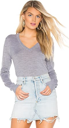 Theory Foundation V Neck Sweater in Gray