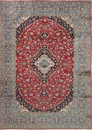 Nain Trading 381x279 Tappeto Persiano Keshan Grigio Scuro/Marrone Scuro (Annodato a mano, Persia/Iran, Lana)