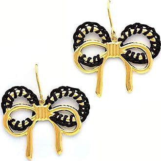 Tinna Jewelry Brinco Dourado Laço Caseado Com Silicone