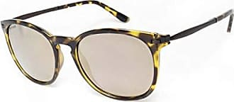 01952b814da3 Peppers Womens Nolita Polarized Oval Sunglasses Shiny Dark Amber Tortoise  53 mm