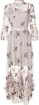 We Are Kindred Vestido Maryjane com bordado - Cinza