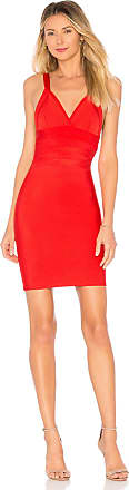 by the way. Niesa Deep V Bandage Dress in Red