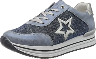 Remonte Womens D1304 Low-Top Sneakers, Blue (Royal/Tinte/Argento 14), 7.5 UK