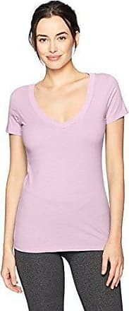 Pack of 2 Clementine Apparel Womens Deep V Neck Tee Black//Hot Pink X-Large