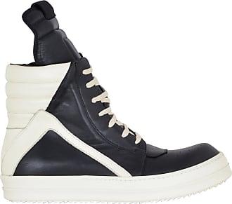 Rick Owens Black and White Dirt Geobasket sneaker