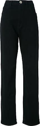 Uma high waist trousers - Di colore nero