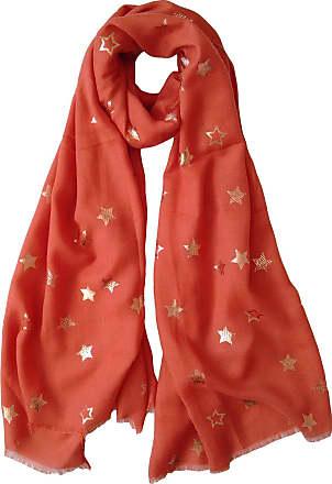GlamLondon Star Pattern Scarf Shawl Latest Fashion Womens Modern Print Wrap (70X180_Rust)