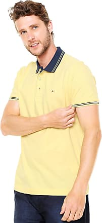 ffb2ab2f18 Aramis Camisa Polo Aramis Regular Fit Frisos Amarela