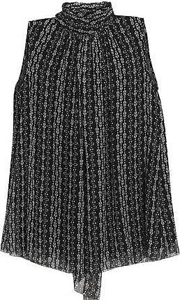 Dolce & Gabbana Dolce & Gabbana Woman Printed Silk-chiffon Blouse Black Size 38