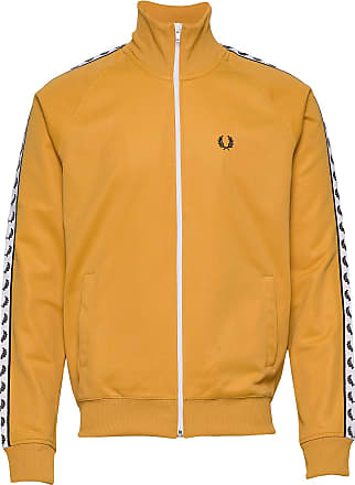 Fred Perry Taped Track Jacket Sweat-shirt Tröja Gul Fred Perry