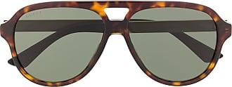 Gucci Óculos de sol aviador com efeito tartaruga - Verde