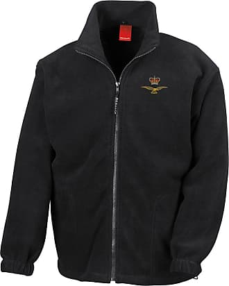 Military Online Eagle Crown Embroidered Logo - Official Royal Air Force Full Zip Heavyweight Fleece Jacket