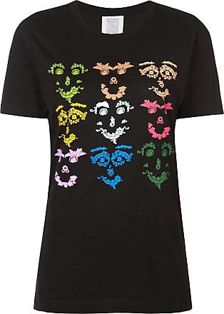 Rosie Assoulin Camiseta com estampa Face - Preto